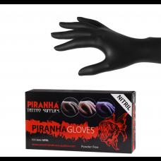 Soft Nitril Handschuhe Piranha - Schwarz